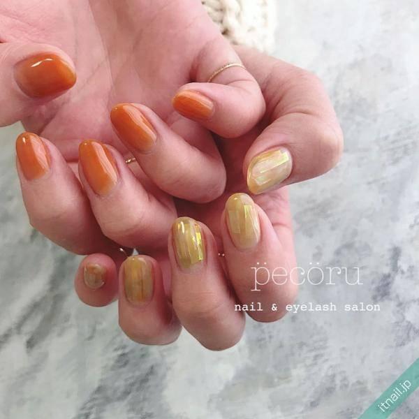 ジューシーな魅力♡大人かわいい「オレンジネイル」デザイン帖