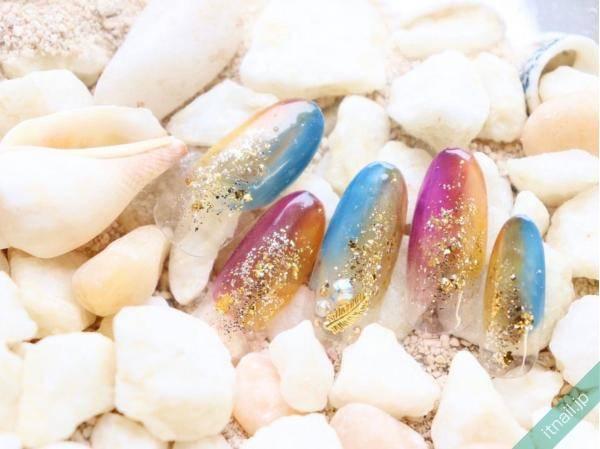 【夏はラメネイル♡】キラキラ輝く印象的な指先に♪お手本デザイン2020