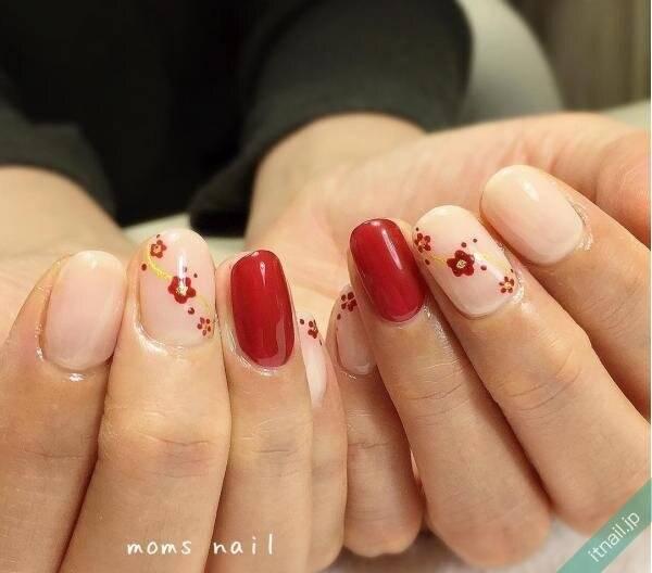指先からはんなり美人♡『梅の花』をモチーフにしたネイル9選
