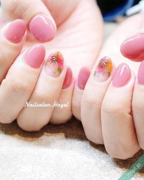桃の節句は桃色×○○ネイルで♡赤っぽピンクでかわいらしい爪にしよう