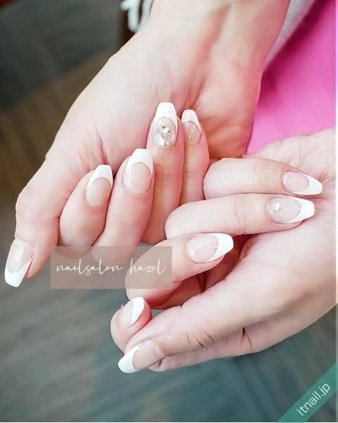 合わせやすい♪【ホワイトネイル】で魅せる美しい指先♡