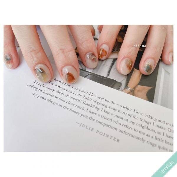今どきな指先♡【塗りかけネイル】で見せる垢抜けデザイン