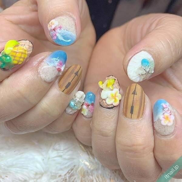 海がテーマの夏ネイル♡気分を盛り上げるデザイン10選☆