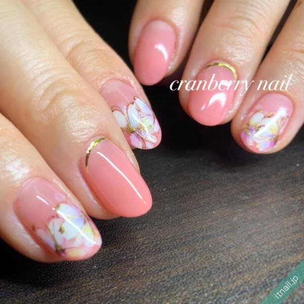 cranberry nailが投稿したネイルデザイン [photoid:I0092382] via Itnail Design (638505)