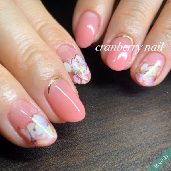 cranberry nailが投稿したネイルデザイン [photoid:I0092382] via Itnail Design (639440)