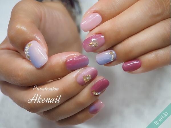 Private salon Ake nailが投稿したネイルデザイン [photoid:I0090643] via Itnail Design (639223)
