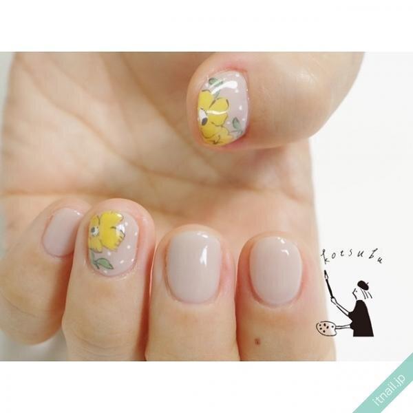 小粒nailが投稿したネイルデザイン [photoid:I0091207] via Itnail Design (641290)
