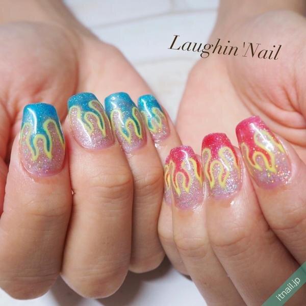Laughin'Nailが投稿したネイルデザイン [photoid:I0088410] via Itnail Design (642435)