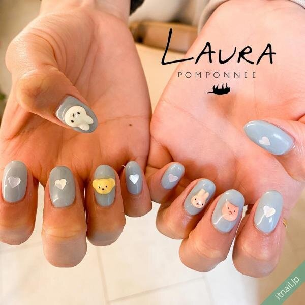 LAURA POMPONNEEが投稿したネイルデザイン [photoid:I0078619] via Itnail Design (643231)
