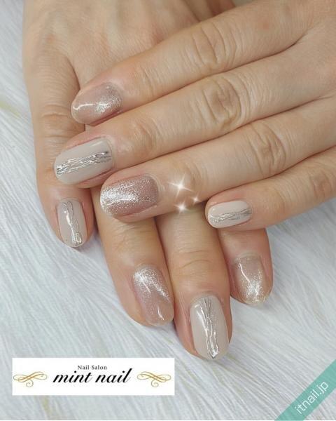 mint nailが投稿したネイルデザイン [photoid:I0094576] via Itnail Design (643405)