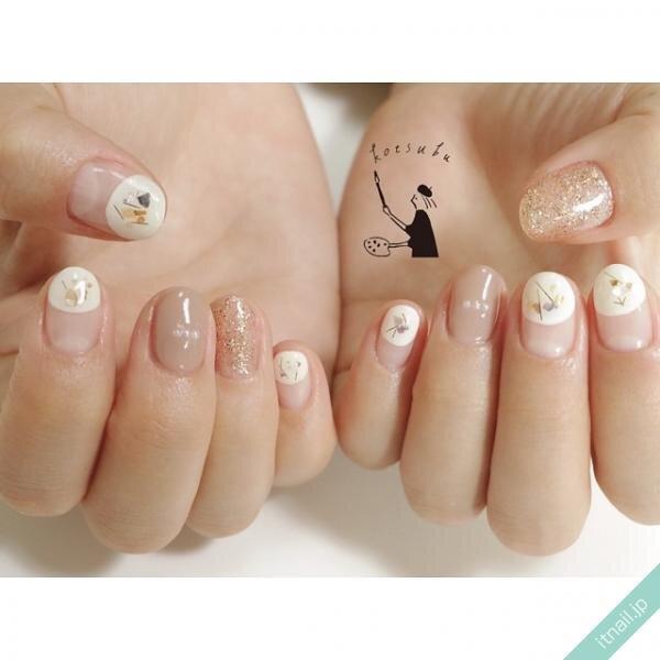 小粒nailが投稿したネイルデザイン [photoid:I0093001] via Itnail Design (643912)