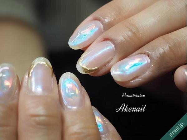 Private salon Ake nailが投稿したネイルデザイン [photoid:I0095788] via Itnail Design (644263)