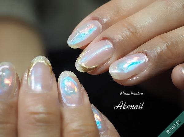 Private salon Ake nailが投稿したネイルデザイン [photoid:I0095788] via Itnail Design (644133)
