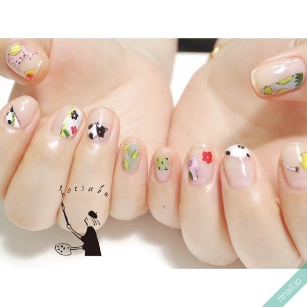 小粒nailが投稿したネイルデザイン [photoid:I0088672] via Itnail Design (644844)
