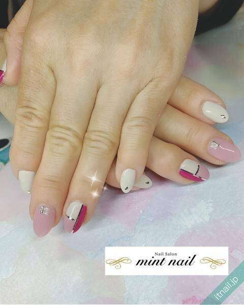 mint nailが投稿したネイルデザイン [photoid:I0097885] via Itnail Design (646733)