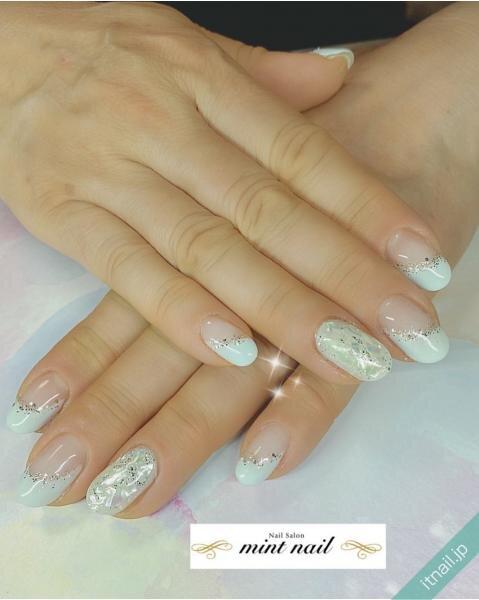 mint nailが投稿したネイルデザイン [photoid:I0097883] via Itnail Design (647213)