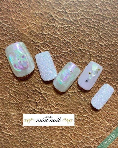 mint nailが投稿したネイルデザイン [photoid:I0097892] via Itnail Design (646899)