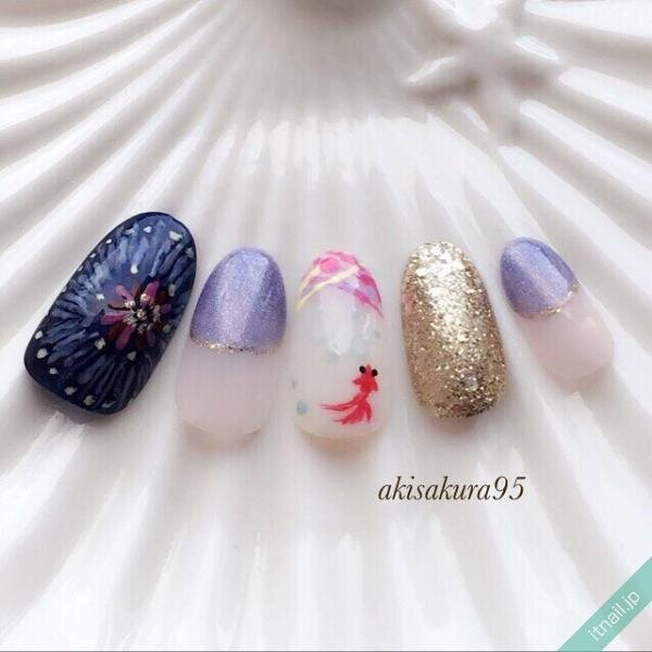 sakura(桜)が投稿したネイルデザイン [photoid:I0027985] via Itnail Design (646902)