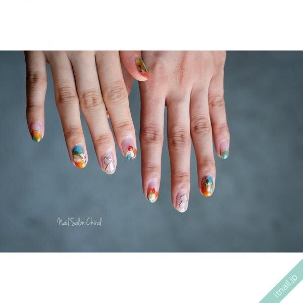 Nail Salon Chiralが投稿したネイルデザイン [photoid:I0074411] via Itnail Design (646941)