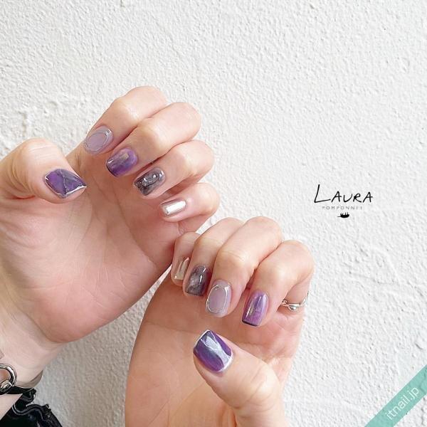 LAURA POMPONNEEが投稿したネイルデザイン [photoid:I0098614] via Itnail Design (648408)
