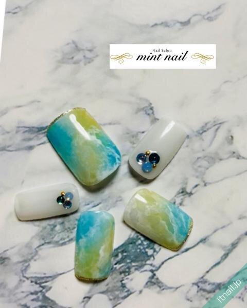 mint nailが投稿したネイルデザイン [photoid:I0097891] via Itnail Design (649386)