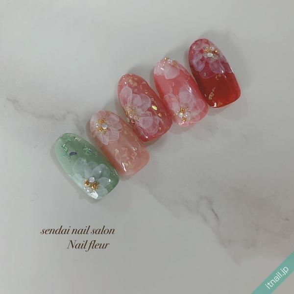 Nail fleurが投稿したネイルデザイン [photoid:I0082159] via Itnail Design (648911)