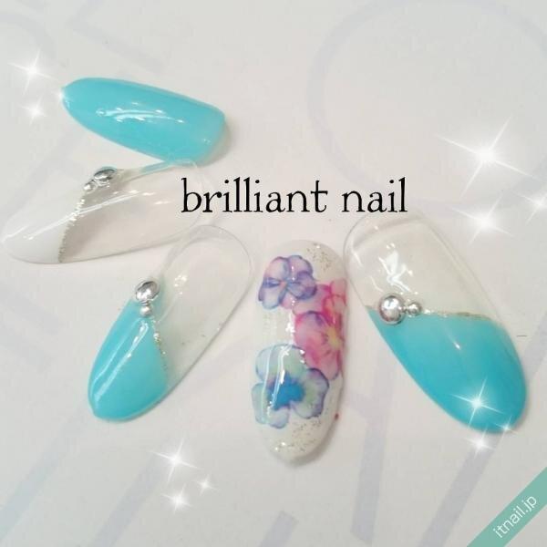brilliant nailが投稿したネイルデザイン [photoid:I0013739] via Itnail Design (649536)