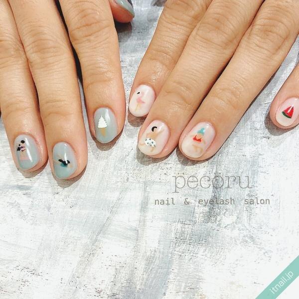 pecoruが投稿したネイルデザイン [photoid:I0086732] via Itnail Design (650859)