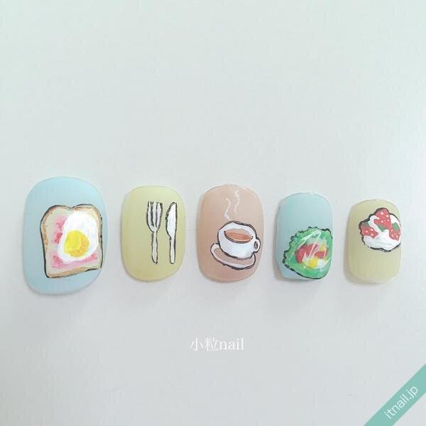 小粒nailが投稿したネイルデザイン [photoid:I0026362] via Itnail Design (652569)
